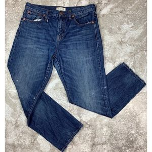 Madewell Straight Leg Crop Jeans Size30 Distressed